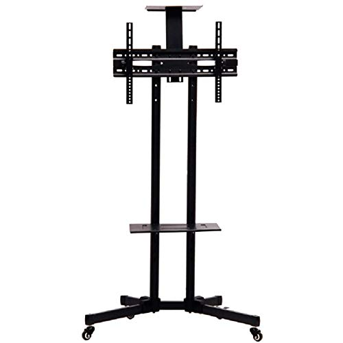(Orihat Mobile TV Stand with Mount for 32 to 65 inch Flat Panel Screens - Black)