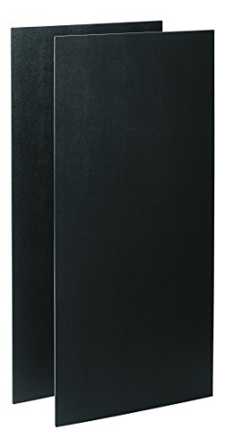 (Rubbermaid Commercial Executive Series Cart Front and Back Panel Kit, Black)