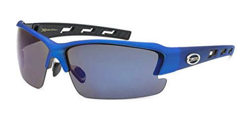 Oversized Wide Frame Men's Cycling Baseball Driving Water Sports Sunglasses - LARGE Size - Blue (Cycling Glasses Large compare prices)