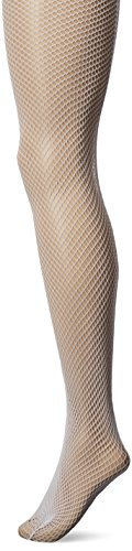 Leg Avenue Women's Fishnet Pantyhose With Back Seam, White, One Size (White Fishnets)