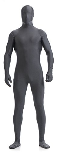 [VSVO Full Body Zentai Skin-Tight Spandex Suit for Adults and Children (Large, Dark Grey)] (Spandex Suits)