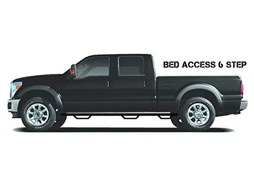 N-FAB D10115CC-6 Gloss Black Nerf Step; Bed Access Dodge Ram 2500 / 3500 Crew Cab 8' Long Bed (Fits Single Rear Wheel) 10-18