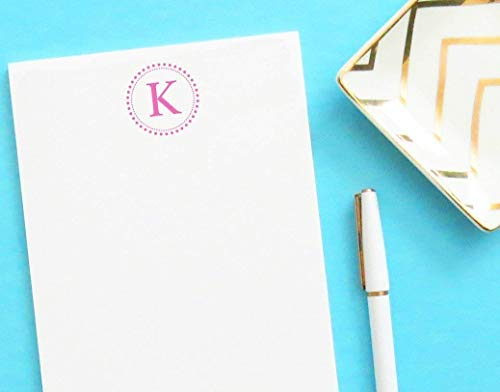Monogrammed notepad, Monogrammed notepad wth Monogram, Personalized Notepad Set, Monogrammed Letter writing paper, size 5.5in x 8.5in, 50 sheets