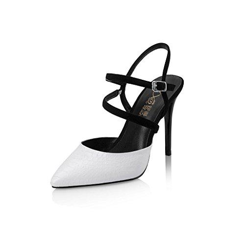 Sandals CJC High-Heeled Baotou High Heels Thin High Heels Sexy Fashion Elegant White YcfdyzFdhc
