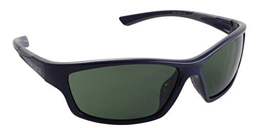 Top Deck Chase Polarized Sunglasses, Blue Frame, Flash Mirror Smoke Lens