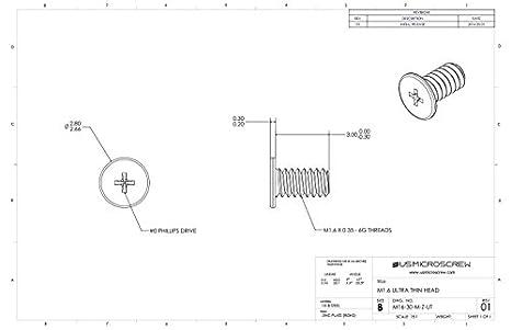 M16 035 X 3mm Machine Screw Zinc Plated Steel Ultra Thin Head