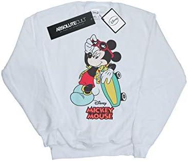Disney Herren Mickey Mouse Skate Dude Sweatshirt Weiß XXXXX-Large