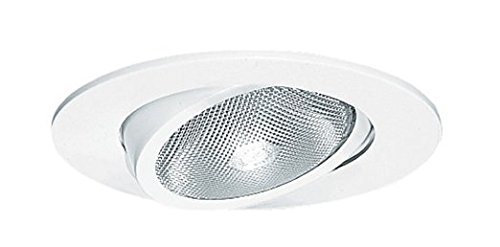 Juno Lighting Group 209N-WH Gimbal Ring with Flat 5-Inch Adjustable Recessed Trim, White ()