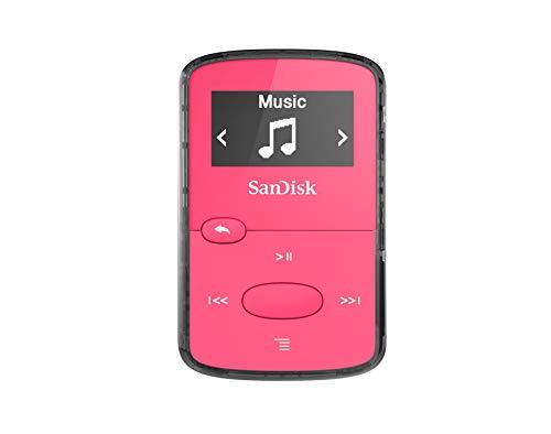 (SanDisk 8GB Clip Jam MP3 Player, Pink - microSD card slot and FM Radio - SDMX26-008G-G46P)