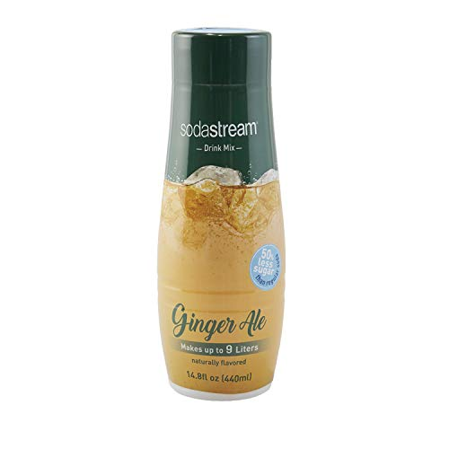 SodaStream Ginger Ale Syrup, 14.8 Fluid Ounce - Ginger Ale Flavor