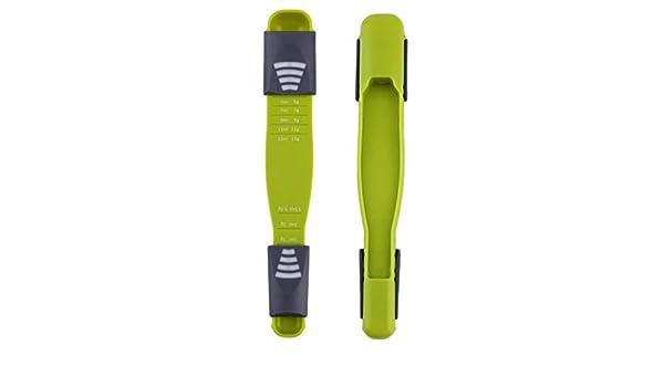vaso medidor de pl/ástico Cuchara medidora ajustable cuchara dosificadora para seco o l/íquido tama/ño grabado para cocinar JHFF