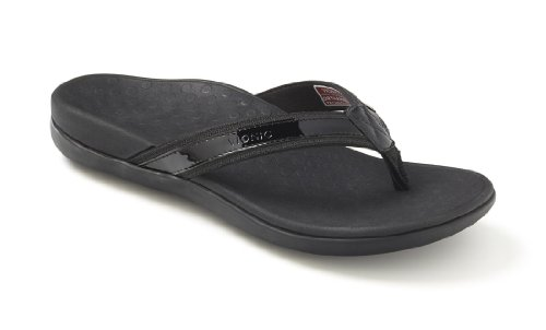Orthaheel Women's Tide Thong Sandals (7,Black)