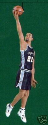 2001 NBA Tim Duncan Spurs Basketball Hallmark Keepsake Ornament -