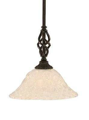 Toltec Lighting 80-DG-431 Elegant Mini-Pendant Dark Granite Finish with Italian Bubble Glass Shade, 10-Inch by Toltec Lighting