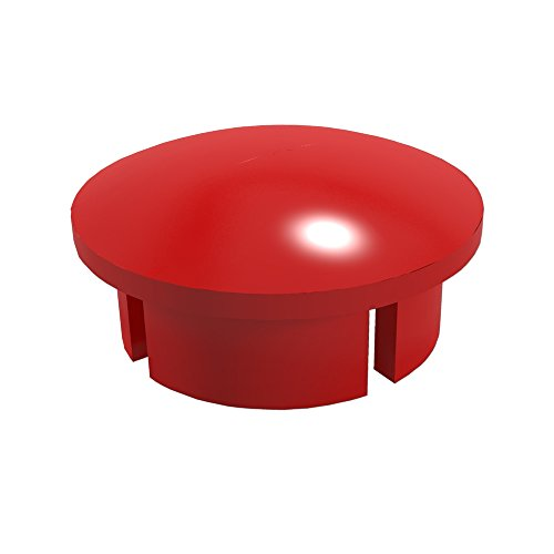 Pipe Red Pvc (FORMUFIT F034IDC-RD-10 PVC Internal Domed End Cap, Furniture Grade, 3/4