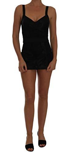 - Dolce & Gabbana Black Floral Stretch Romper Body
