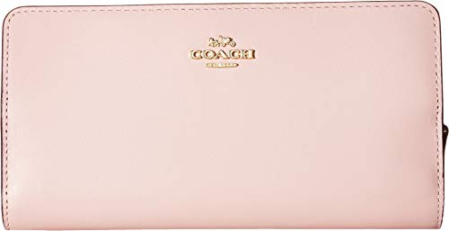 COACH Women's Skinny Wallet in Smooth Leather Blossom/Gold One ()