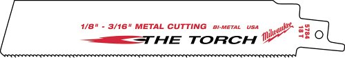 Milwaukee 48-00-8784 Super Sawzall Blade 18 Teeth per Inch 6-Inch Length