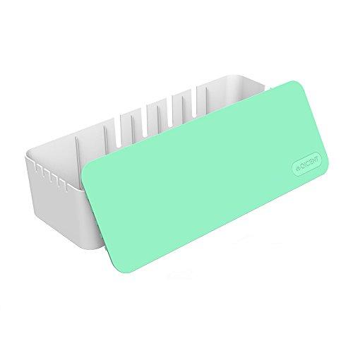 QICENT Cable Management Storage Box Organizer 15.3x5.4x3.5 I