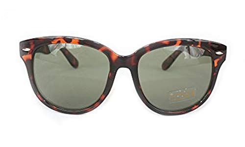 Utopiat Audrey Style Cat-Eyed Retro Tortoiseshell Sunglasses Inspired By ()