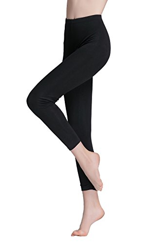 Vinconie Women Thermal Ankle Length Leggings Modal Skinny Running Tights Petite