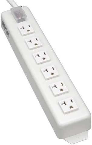 Tripp Lite 6 Outlet Home Office Power Strip, 20A, 15ft Cord with 5-20P Plug, TLM615NC20
