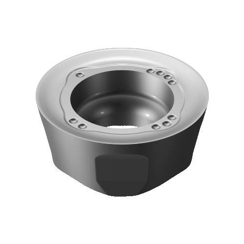 Neutral Cut Carbide N Ti, Al iLock Interface S30T Grade, Round Pack of 10 Sandvik Coromant 600-1252M-ML S30T Coro Mill 600 Insert for Milling