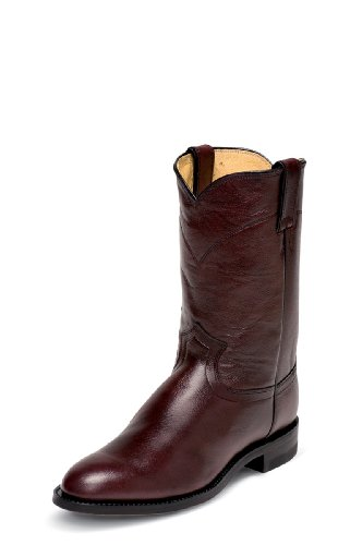 Roper Cowboy Boot Round Toe Black Cherry 8.5 D(M) US (Justin Mens Roper)