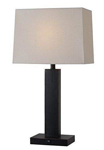 Kenroy Home 32758ORB Innkeeper Table Lamp, Oil Rubbed Bronze Finish ()