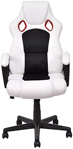 KOVALENTHOR Ergonomic Chair for Office Executive Decor, Massage Gaming Chair High Back, Computer Chair with Adjustable Headrest and Lumbar Support, Ergonomic Swivel Chair, Office Chair White