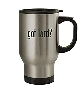 got lard? - 14oz Sturdy Stainless Steel Travel Mug, Silver