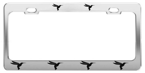 HUMMINGBIRD ANIMAL PICTURES FUNNY CHROME STEEL LICENSE PLATE FRAME TAG HOLDER Hummingbirds Animals