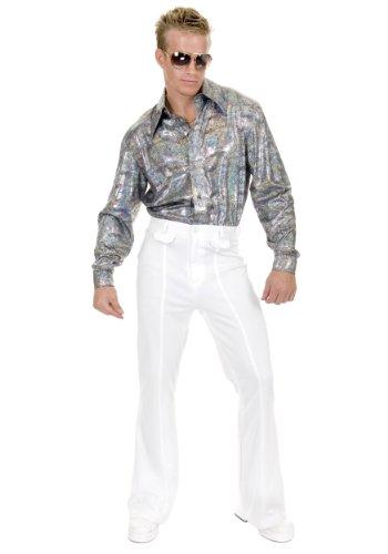 Plus Size Glitter Disco Shirt (Breakfast At Tiffany's Costume Male)
