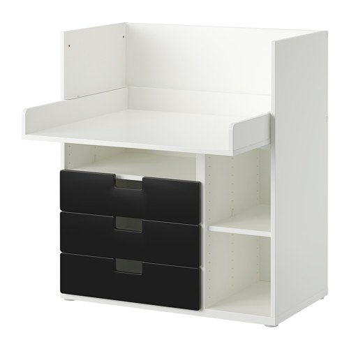 IKEA STUVA - Escritorio con 3 cajones, blanco, negro - 90x79x102 ...