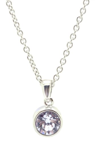 Chelsea Jewelry Basic Collections Swarovski Elements Violet Color Round Pendant. (Swarovski Violet Round Beads)