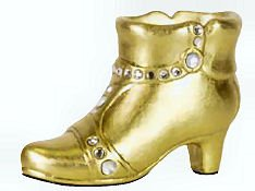 In Sights Fancy Shoes Ceramic Cell Phone Stand - Josselyn Gold Boot