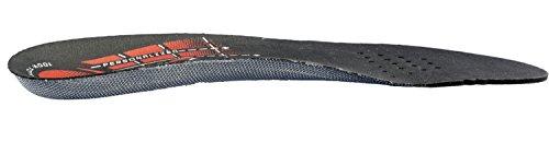 Plantilla biomecánica personalizable que previene lesiones articulares. Adaptación total a la ergonomía del pie. Black