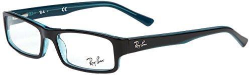 Ray-Ban RX5246 Eyeglasses Turquoise on Turquoise / Grey - Eyeglass Grey Frames