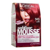 coloration sublime mousse loral 565 chatain rouge ardent - Coloration Rouge L Oreal