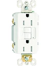 GFCI REC TR 15A 125V 3PK Receptacle outlet, White