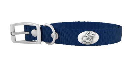 ZEP-PRO Navy Nylon Concho Pet Collar, Kansas Jayhawks, Medium