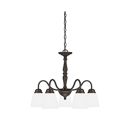 Sea Gull Lighting 3512405-191, Northbrook Glass Chandelier Lighting, 5 Light, 375W, Bronze - Bronze Satin Chandelier