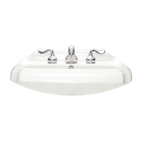 American Standard 0228.018.020 Antiquity Pedestal Sink with 8-Inch Faucet Spacing, White free shipping