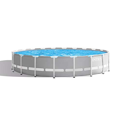 Intex 20 Foot x 52 Inch Prism Frame Above Ground Swimming Pool w/Filter Pump