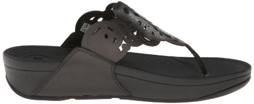 Pictures of FitFlop Women's Flora Black 8 M (B) Black 8 M US 3