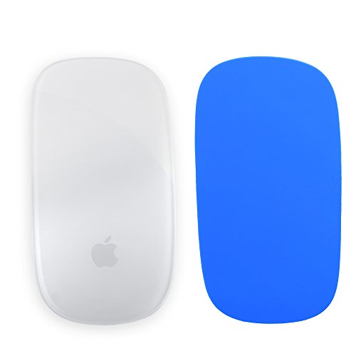 Cosmos Blue color silicone soft skin protector cover for MAC Apple Magic Mouse + Free cosmos cable tie