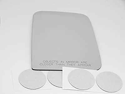 97-02 Jeep Wrangler/TJ, Right Passenger, Replacement Mirror Glass Lens with Adhesive, USA