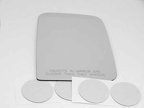 Fits 97-02 Jeep Wrangler/TJ, Right Passenger Replacement Mirror Glass Lens with Adhesive, USA