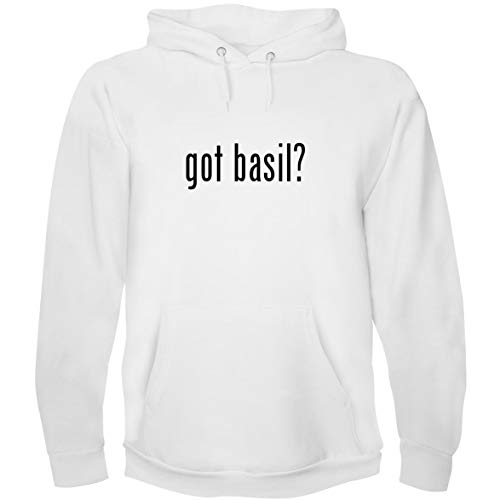 The Town Butler got Basil? - Men's Hoodie Sweatshirt, White, Small