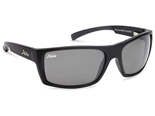 Hobie Baja-010168 Polarized Rectangular Sunglasses, Satin Black, 64 ()